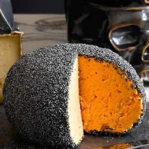 unwashed poppy seed cheddar cheese ball